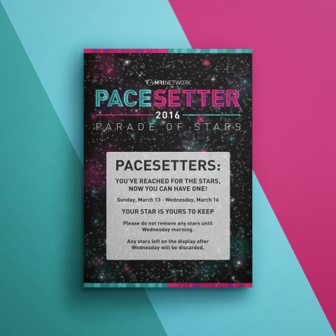 Pacesetter 2016 Informational Signage